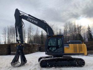 Access-Mat-Grapple-Excavator