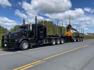 Self-Loading Log Truck